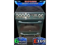 Auto Functions, Ceramic, Creda Double Oven, Fan Assisted, Fully Reconditioned inc 6 Months Warranty