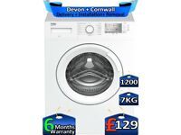 1200 Spin, Beko Washing Machine, 7kg Drum, Quick Wash, Factory Refurbished inc 6 Months Warranty
