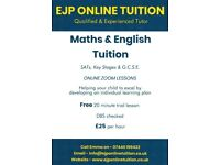Maths & English Tutor