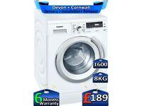 Siemens Washing Machine, 1600 Spin, Inverter, 8kg Drum, Factory Refurbished inc 6 Months Warranty