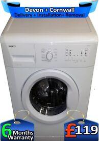 Beko Washing Machine, Big 7KG Drum, Fast Wash, Time Delay, Factory Refurbished inc 6 Months Warranty