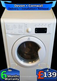 9Kg Mega Drum, Indesit Washing Machine, Fast 1200, LCD, Fully Refurbished inc 6 Months Warranty