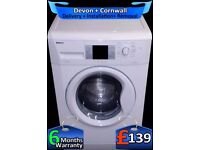 Big 8kg Drum, Beko Washing Machine, Fast 1300, LCD, A+Rated, Fully Refurbished inc 6 Months Warranty