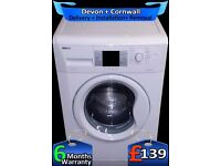 Lcd, A+ Rated, Fast 1200, Top Beko 8kg Mega Drum, Fast Wash, Fully Refurbished inc 6 Months Warranty