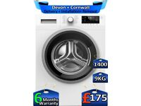 9kg Drum, Blomberg Washing Machine, FULL LCD, 1400 Spin, Factory Refurbished inc 6 Months Warranty
