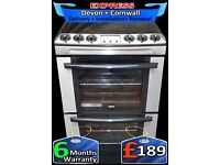 Top Zanussi Ceramic Hob, Fan Assisted, Double Oven, Fully Reconditioned inc 6 Months Warranty