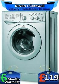 1200 Spin, Silver, Rapid Wash, Indesit washing Machine, A, Factory Refurbished inc 6 Months Warranty