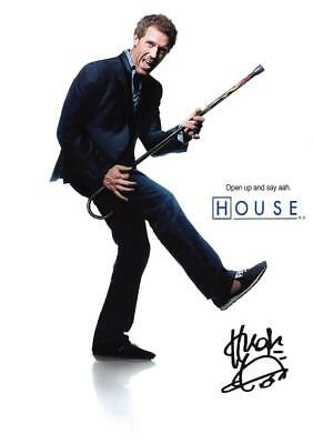 """HOUSE M.D. PP SIGNED PHOTO POSTER 12"""" X 8"""" A4 HUGH LAURIE N2"""