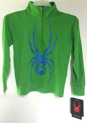 Spyder Boys Mini Bugs On Bug 1/4 Zip Cotton T-Neck Shirt Size 3 NEW Spyder Boys Bugs