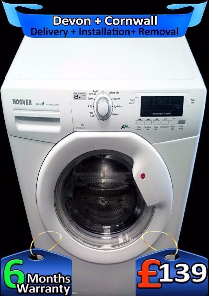 Rapid Wash, Hoover Washing Machine, Full LCD, Big 8Kg Load, Fully Refurbished inc 6 Months Warranty