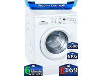 8kg Drum, Siemens Washing Machine, 1600 Spin, Fast Wash, Factory Refurbished inc 6 Months Warranty