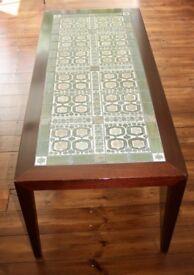 Vintage Danish Rosewood Tiled Coffee Table