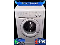 Indesit Washing Machine, 5.5Kg Drum, 1100 Spin, Daily Wash, Fully Refurbished inc 6 Months Warranty
