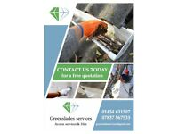 Greenslades Services offer Gutter cleaning and roof cleaning services - Also Cherry Picker Hire