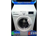 Huge 10Kg Drum, Hoover Washing Machine, AAA+ Rated, LCD, Factory Refurbished inc 6 Months Warranty