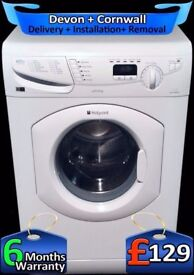 Hotpoint Washing Machine, 1600 Mega Spin, LCD, Quick Wash, Fully Refurbished inc 6 Months Warranty