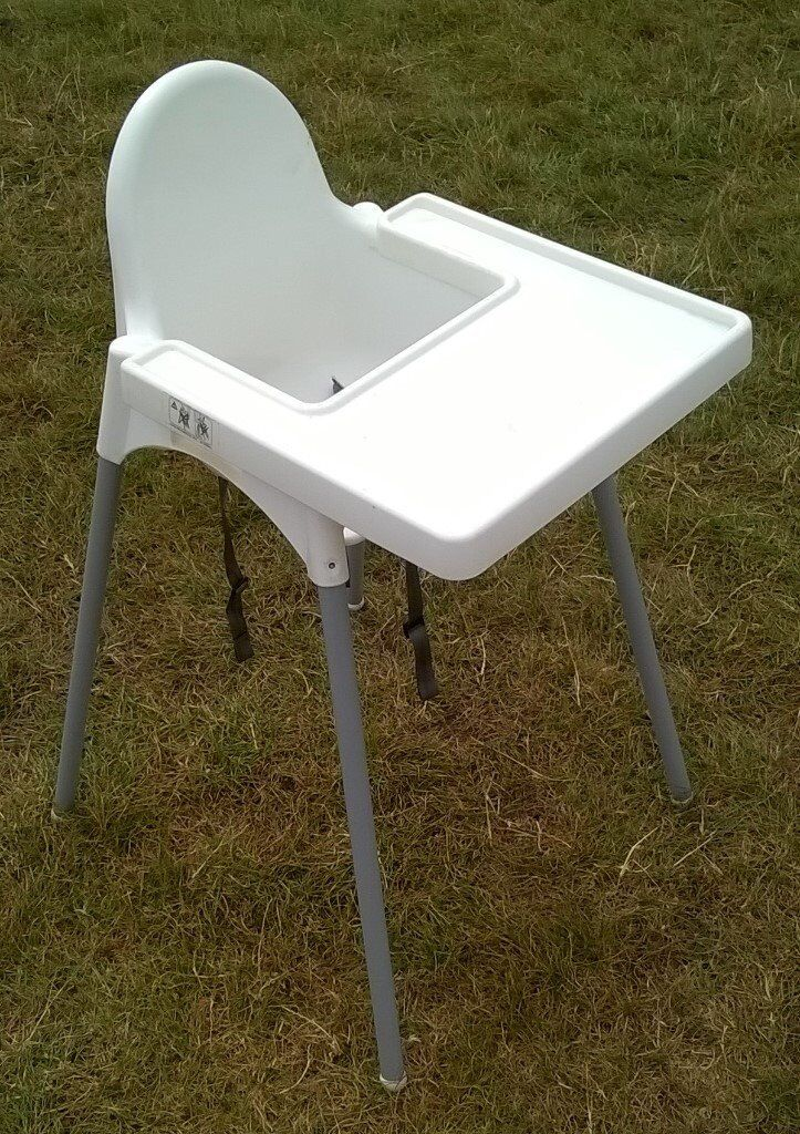 IKEA BABY HIGH CHAIR with SAFETY STRAPS and MATCHING TRAY HIGHCHAIR ...