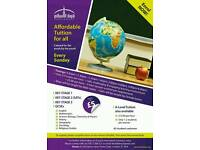 Tuition for all subjects in East London.