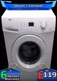 LCD, Fast 1400, Fast Wash, 6kg, Zanussi Washing Machine, Fully Refurbished inc 6 Months Warranty