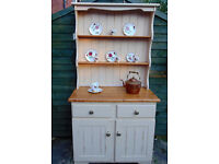 Shabby chic country kitchen farmhouse welsh dresser storage also have matching dining table
