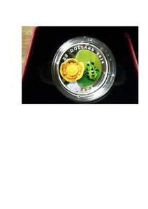 2014 CANADA $20 FROG ON LILYPAD MURANO GLASS PURE SILVER COIN