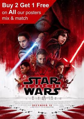 Star Wars The Last Jedi Movie Poster A5 A4 A3 A2 A1