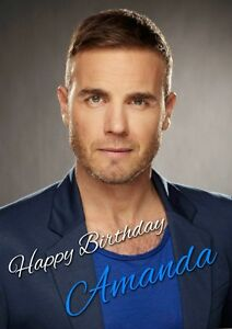 PERSONALISED GARY BARLOW BIRTHDAY CARD