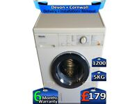 5kg Drum, Fast Wash, Miele Washing Machine, 1200 Spin, Factory Refurbished inc 6 Months Warranty