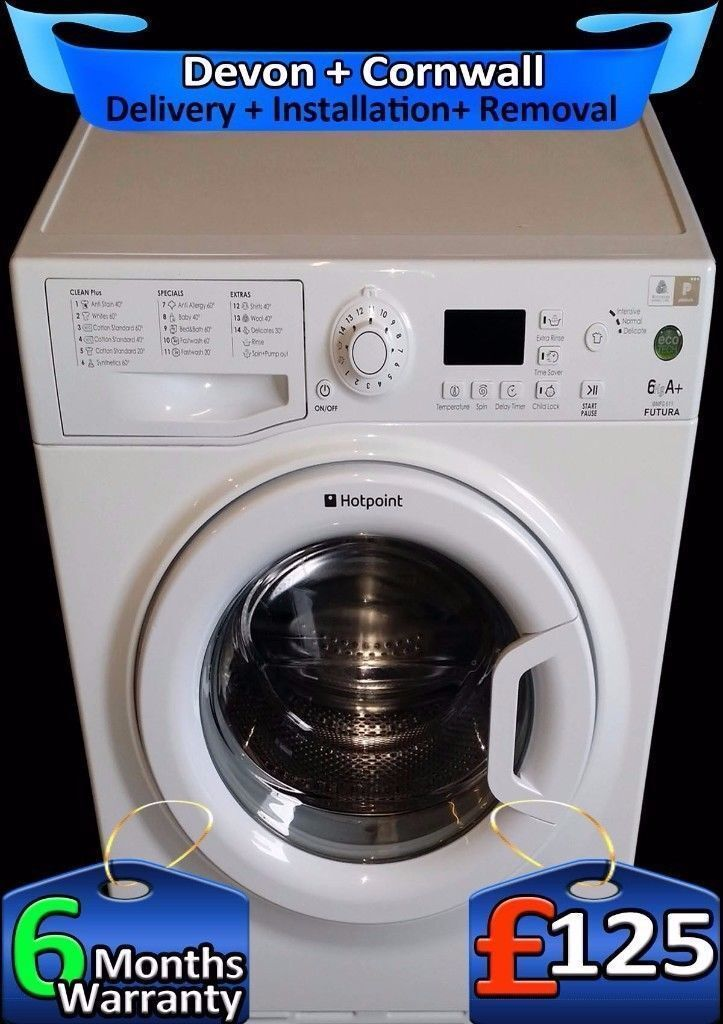 Quick Wash, A+ , Hotpoint 6Kg Washing Machine, Fast 1300, Fully Refurbished inc 6 Months Warranty