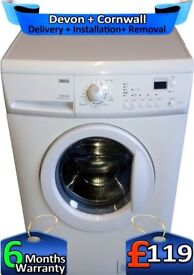Fast Wash, 1200 Spin, 6Kg Drum, Zanussi Washing Machine, Factory Refurbished inc 6 Months Warranty