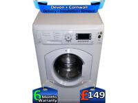 Hotpoint Washing Machine, Big LCD, Huge 8Kg, Fast 1600, Factory Refurbished inc 6 Months Warranty