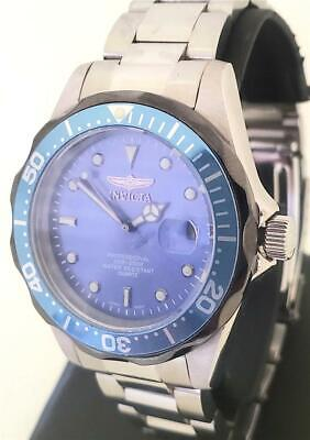INVICTA PRO DIVER STAINLESS  WATCH BLUE DIAL AND BEZEL  - MODEL 12813 38MM