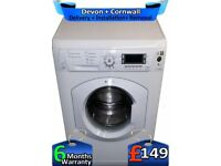 Big LCD, Huge 8Kg, Fast 1600, Hotpoint Washing Machine, Factory Refurbished inc 6 Months Warranty