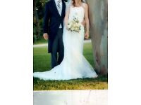 WEDDING DRESS IVORY SILK AND LACE