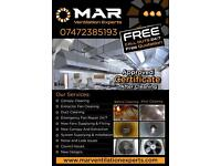 Restaurant Kitchen extractor fan and canopy duct ducting repairing and extraction cleaning