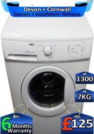 Fast Wash, 7kg Drum, 1300 Spin, Zanussi Washing Machine, Factory Refurbished inc 6 Months Warranty