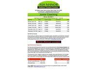 Ash Manor Indoor Tennis Centre Junior Coaching Programme