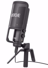 RODE NT USB CONDENSER MICROPHONE BNIB WITH ALL FACTORY CONTENTS