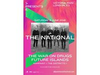 The National Tickets x 2