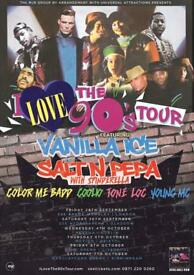 90s tour in Birmingham, 5 tickets for sale
