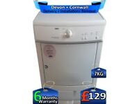 Timed Dry, Zanussi Tumble Dryer, Condenser, 7kg Load, Factory Refurbished inc 6 Months Warranty