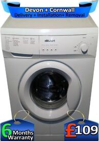 Bush Washing Machine, 6Kg Drum, Fast 1200, Quick Wash, Factory Refurbished inc 6 Months Warranty