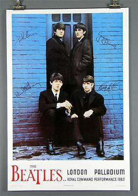 The Beatles London Palladium Poster, John Lennon, 1963, Nice Large Reproduction