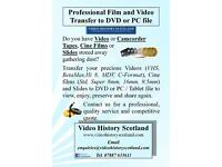 Professional Film and Video Transfer to DVD or PC file - Do you have precious family tapes or films