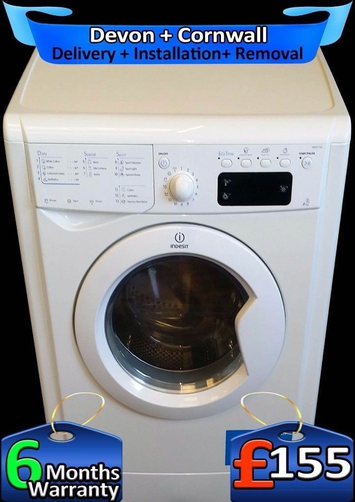 LCD, Fast 1400, 9Kg Mega Drum, Top Indesit Washing Machine, Fully Refurbished inc 6 Months Warranty