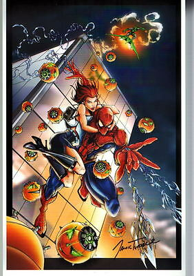 MARY JANE Blue Suit MAXIM Mag Print HAND SIGNED Jamie Tyndall w COA Spider-Man