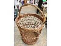 Large wicker basket. CHRISTCHURCH