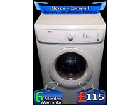 Zanussi Washing Machine, Rapid Wash, Big 6Kg, Fast 1200, Fully Refurbished inc 6 Months Warranty