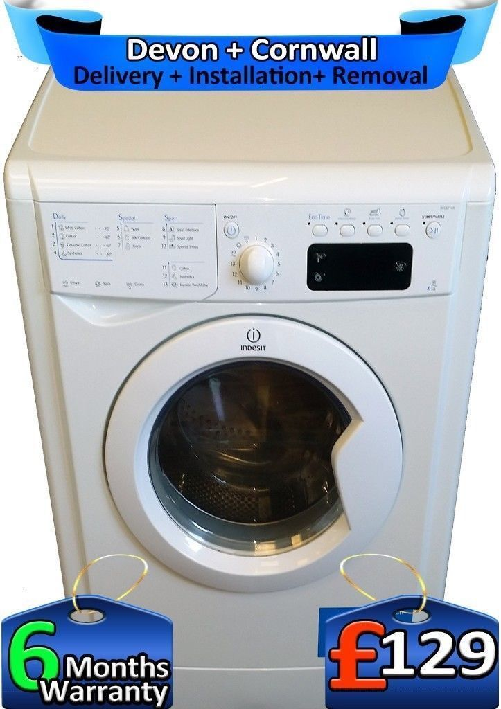 Fast 1400, Full LCD, Indesit Washing Machine, Big 7Kg, A+, Factory Refurbished inc 6 Months Warranty