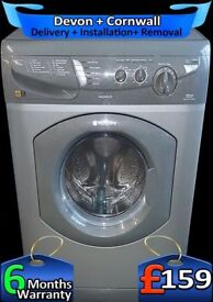 Graphite Grey, 6Kg Drum, Hotpoint Washer Dryer, Fast Wash, Factory Refurbished inc 6 Months Warranty
